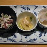 京豆冨不二乃 - おばんざい三種
