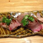 60581337 - 炙り握り寿司(コース追加料金でも食べる価値あり)