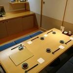 鮨 からく - 個室はまあまあな雰囲気(*^^*)