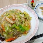 60583088 - 野菜皿うどんコンボセット¥907                       (餃子3ヶ+ドリンク付)