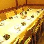 北浜 - 少人数のご宴会・会食に最大10名様までの空間をご用意しております。