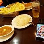 ガネーシュ - チキンバターマサラに生ビール(中)