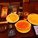 ガネーシュ - チキンバターマサラとライス、ノンアルコールビール