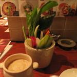 越後の台所 すずきち - バーニャカウダ。