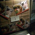 北新地 朱月 - 入口にショップカード