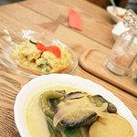 自然派レストランナート - ビュッフェのタイ風ココナッツカレー