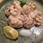 蕎麦前 小まつ - 鱈の白子焼き