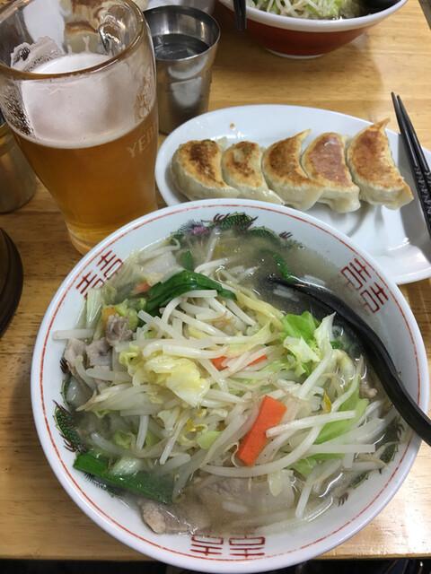 タンメンしゃきしゃき 新橋店 - タンギョーと生ビール