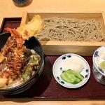 60609470 - そば酒房 凛や ヨドバシ横浜店(蕎麦+天丼のセット 1,058円)※蕎麦は大盛