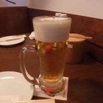 ハバネロ居酒屋 BOKUN - この日はビール半額でした!ラッキー♪
