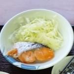 アンバー - 朝定食(鮭・アップ)