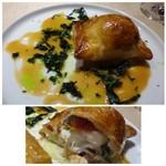 TTOAHISU - ◆こちらもスペシャリテの「パイ包」、、今回は「団扇海老」が入っています。       海老の下には「鶏のムース」