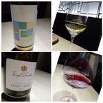 TTOAHISU - ◆次に白を。甘口でとお願いしましたら「安心院の白ワイン」が出されました。◆その次に「赤」を