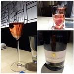 TTOAHISU - ◆まずは「シャンパン」から。ロゼとは珍しい。       少し辛口ですけれど、美味しい品。