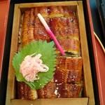 四季五彩 きわ - 鰻せいろ蒸し(2,600円)。 お味噌汁とお漬物がセット。