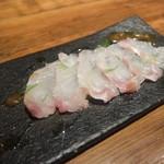 Bar篠崎 - クエのカルパッチョ