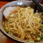 麺や  虎ノ道 - 細麵アップ画 H28.12