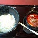 神楽坂 南山 - 辛いながらも味わい深いつけ麺