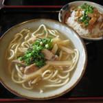 60620864 - 八重山そば(小)&三枚肉めし