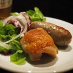 シュラスコB - ブラジルソーセージと鶏もも焼き
