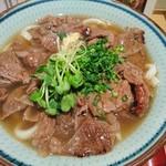 肉饂飩とみ坂 - 2016年12月 上あぶり肉うどん 940円