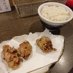 山なか製麺所 - 唐揚げセット430円コストパフォーマンスが劇的に悪い。