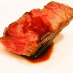 トラットリア・アルモ - 熊本産 黒毛和牛の熟成肉「クリ」の炭火焼き