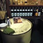 立呑風太くん - ドラム缶テーブル。