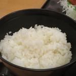 和食処 八田 - ご飯アップ