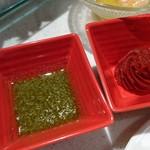 60639096 - バーニャカウダーはトマト味噌とバジルソースで