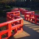 60640524 - 岩槻城址公園のカッコいい紅い橋