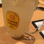 炭火 酒蔵 喜多 - ハイボール(鹿児島ぼんたん)
