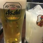 ジョニーのからあげ - 生ビール380円 カルピス200円
