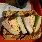 サントピアステラ - ハム&エッグサンドイッチ 300円
