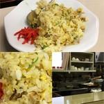 たちばな - 平成28年12月 セットの焼豚チャーハンハーフ200円/厨房