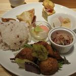 コト コト - ランチプレート@1,200 大和芋のフリット