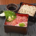 和食れすとらん 天狗 - まぐろとねぎとろ重とミニ麺のセット