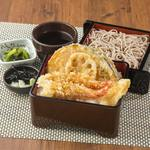 和食れすとらん 天狗 - 特撰天重とミニ麺のセット