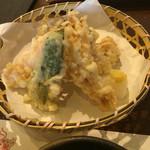 60653889 - 野菜天ぷら。                       うまし。