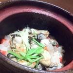 割烹 八彩 - 牡蠣土鍋ご飯