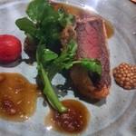 割烹 八彩 - 鹿モモ肉のカツレツ