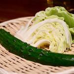 日南市 じとっこ組合 - お通しの野菜
