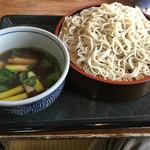 直利庵 三浦屋 - 「鴨ざるそば」(980円)