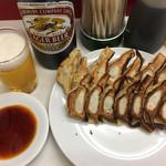 60661639 - 餃子1人前7ケ290円×2                       ビール大瓶500円