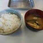 博多天ぷら なぐや - 2016年12月 ご飯と味噌汁 博多定食 980円