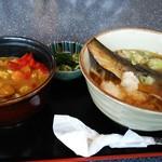 奥田東京亭 - 料理写真:ニシン蕎麦とミニカレー丼セット。