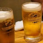 磯金 漁業部 枝幸港 - 生ビール。