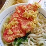 麺乃庄 つるまる饂飩 - 「しょうが天」90円+うどん290円