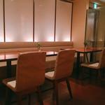 ランコントル - テーブル席
