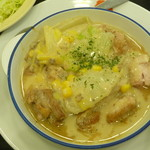 松屋 - 鶏と白菜のクリームシチュー定食 税込630円